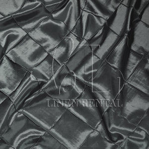 "Charcoal 4"" Pintuck Taffeta Table Overlays"