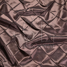 "Chocolate 4"" Pintuck Taffeta Table Overlays"