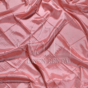 "Coral 4"" Pintuck Taffeta Table Overlays"