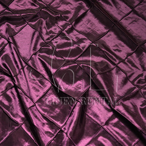"Eggplant 4"" Pintuck Taffeta Table Linen"
