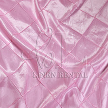 "Pink 4"" Pintuck Taffeta Table Overlays"