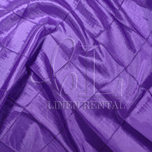 "Purple 4"" Pintuck Taffeta Table Linen"