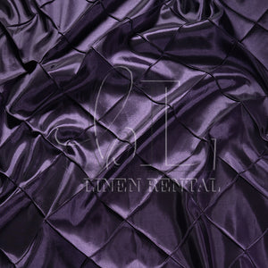 "Raisin 4"" Pintuck Taffeta Table Overlays"
