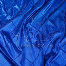 "Royal Blue 4"" Pintuck Taffeta Table Linen"