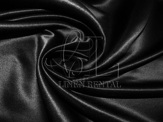 Black Satin Table Overlays