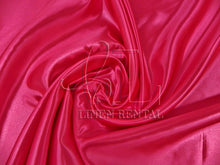 Fuchsia Satin Table Overlays