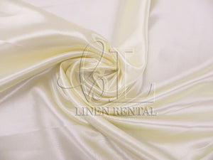 Ivory Satin Table Overlays