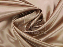 Khaki Satin Table Overlays