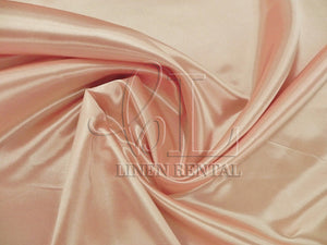 Peach Satin Table Overlays