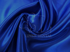Royal Blue Satin Table Overlays