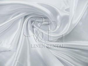 White Satin Table Overlays