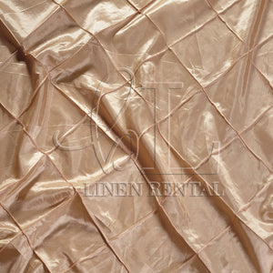 "Khaki 4"" Pintuck Taffeta Table Linen"