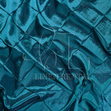 "Teal 4"" Pintuck Taffeta Table Overlays"