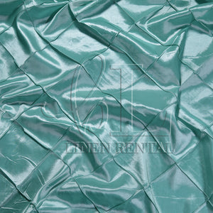 "Tiffany Blue 4"" Pintuck Taffeta Table Linen"