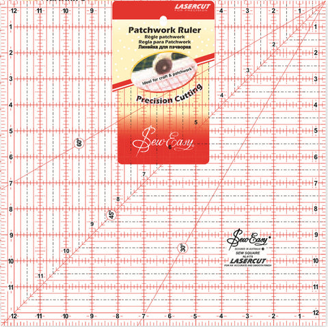 "12 1/2"" square Patchwork Ruler"