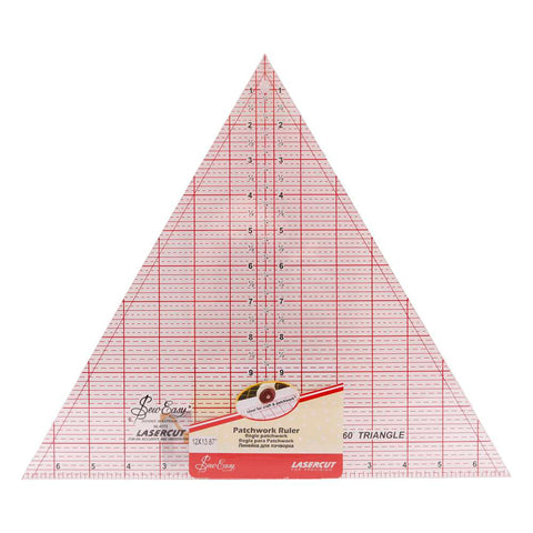 "60 Degree 12"" Triangle Patchwork Ruler"
