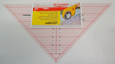 "90 degree Patchwork Triangle 7 1/2"" Ruler"