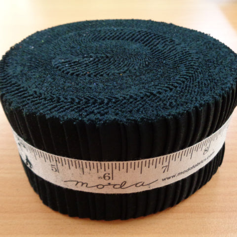 Moda Bella Solids Black Jelly Roll