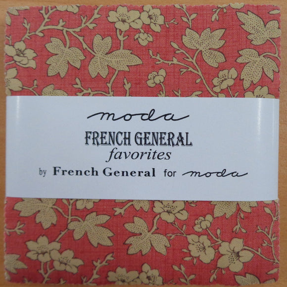Moda French General Favourites Charm Squares