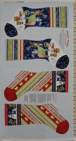 Joy Love Peace Noel Stocking panel