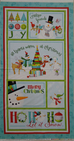 HO HO HO Let it snow Christmas panel