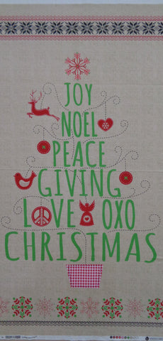 Joy Noel Peace Christmas panel