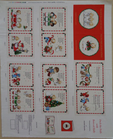 Deck the Halls with Bows of Holly Christmas Book panel