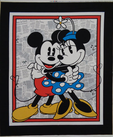Mickey and Minnie Mouse Panel