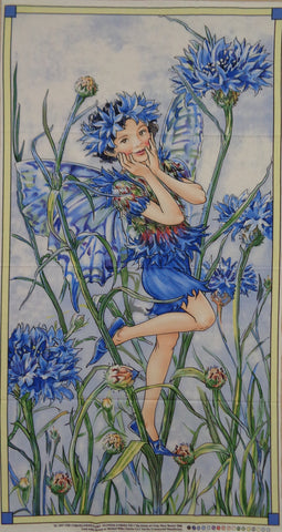 Flower Fairies Panel Blue