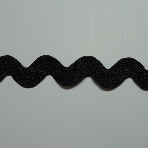 Ric Rac 6mm Black WS20
