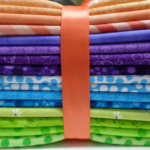 16 Bright Fat Quarters