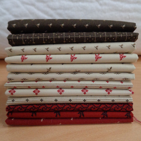 12 Songbird Gathering Fat Quarters