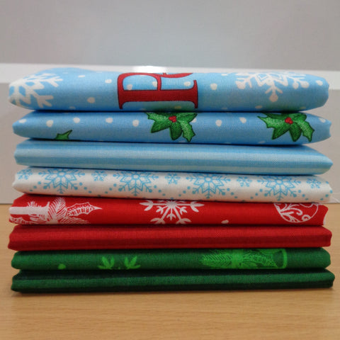 8 Christmas Wishes Fat Quarters