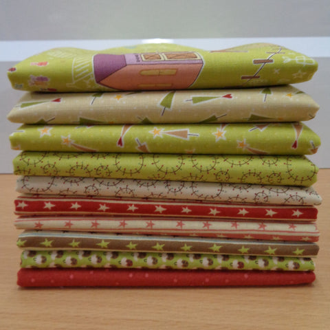 10 Hometown Holidays Fat Quarters