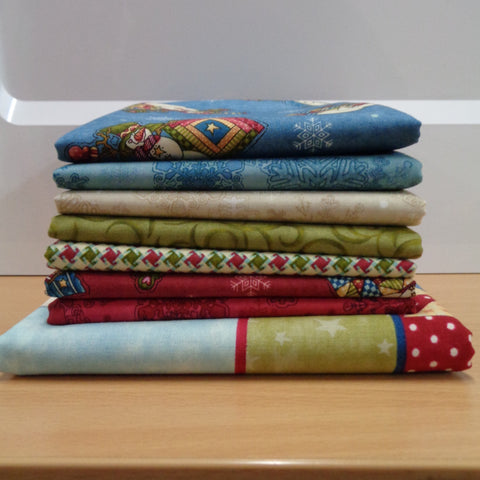 7 My Precious Quilt Fat Quarters plus panel