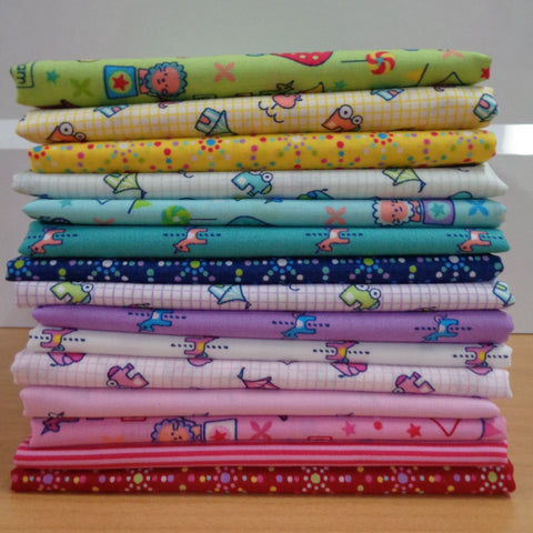 15 Mini Fun Fair Fat Quarters