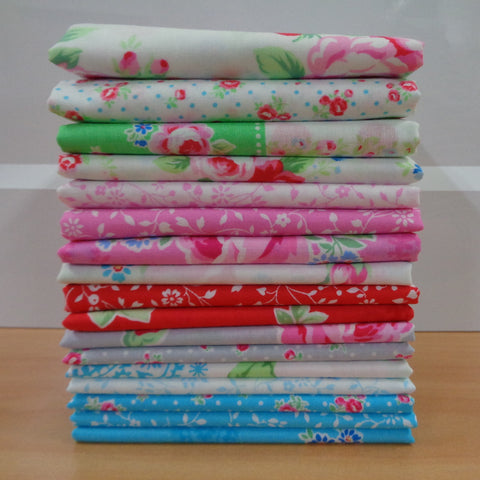 17 Flower Sugar Fat Quarters