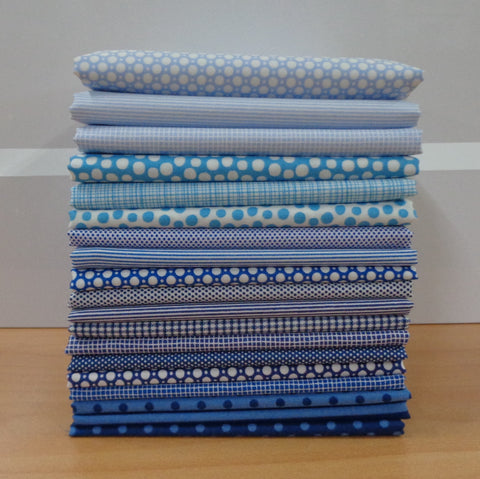 19 A Day in the Country BLUE Fat Quarters