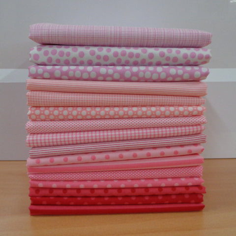 16 A Day in the Country PINK Fat Quarters