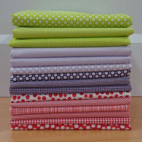 15 A Day in the Country RED Fat Quarters