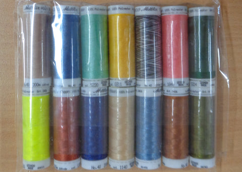 Mettler PolySheen Embroidery thread pack 6