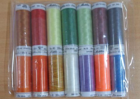 Mettler PolySheen Embroidery thread pack 7