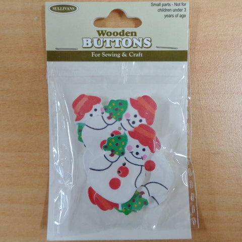 Christmas Buttons Snowman 6pcs