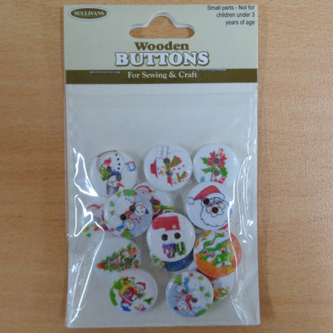 Christmas Buttons Santa Series 15pcs