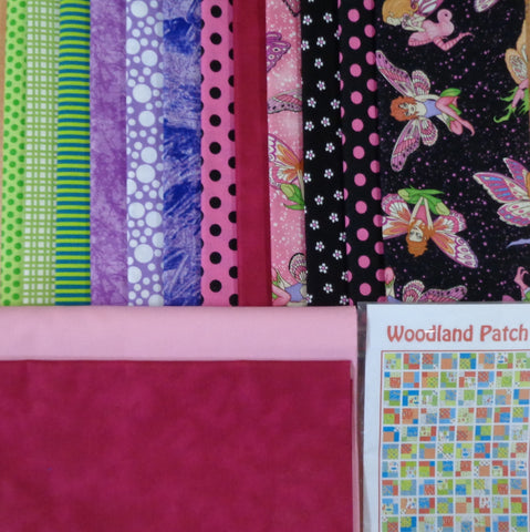 Woodland Patch Quilt Kit - pink
