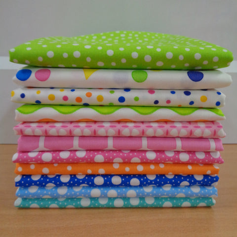 11 Confetti Fat Quarters