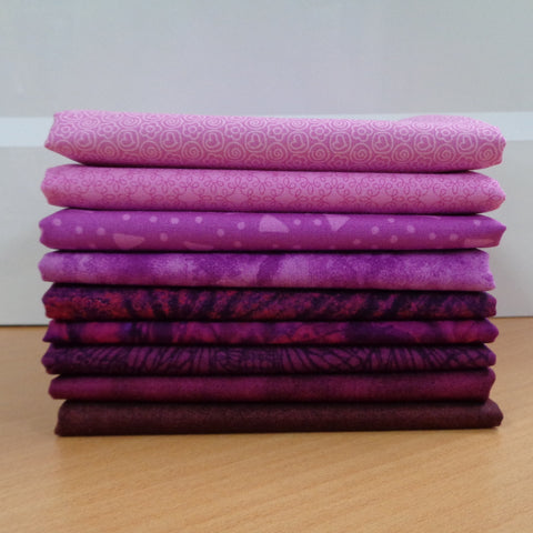 9 Mulberry Fat Quarters