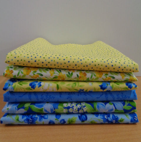 6 Summer Breeze Fat Quarters