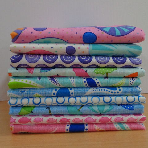 10 Rainy Day Fat Quarters