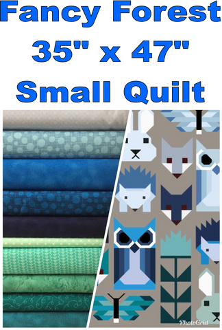 Fancy Forest Small Quilt Kit